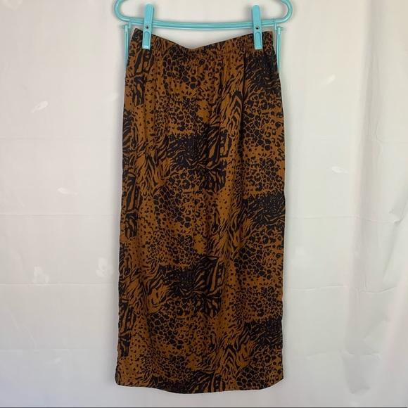 Vintage Dresses & Skirts - 4/$20🛍 Vintage 80's Animal Print Midi Skirt